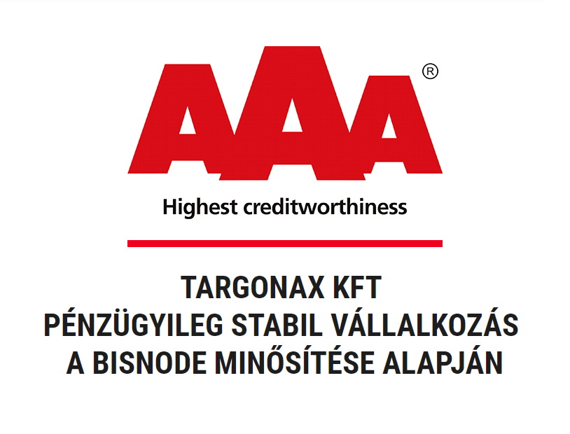 AAA Bisnode minősítés