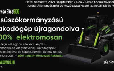 Kovaco elektromos rakodógép bemutató